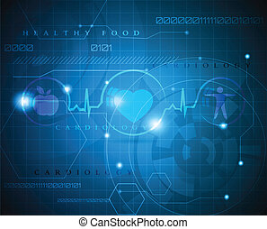 Abstract cardiogram - Abstract medical background. Abstract...