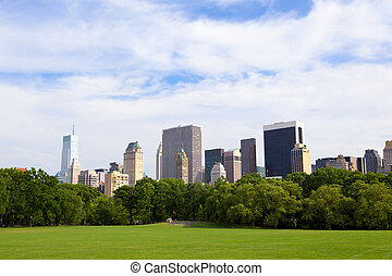 Central Park - The Sheep Meadow at Central Park with...