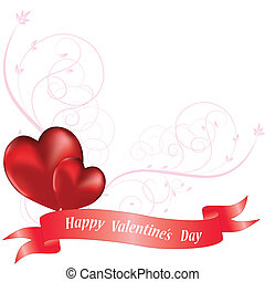 Ornamental heart background for valentine's day. Vector...