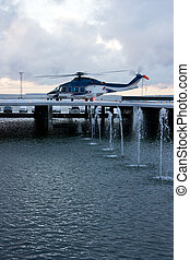 Helicopter - A photo of passenger helicopter in the snow...