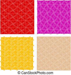 seamless vintage floral patterns set