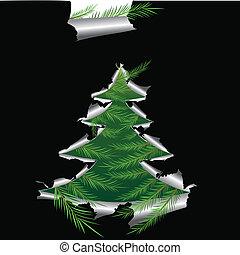 Paper with hole like Christmas tree