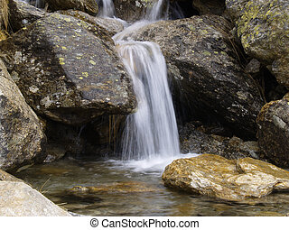 Waterfall in the Italian Alps (environs of Biella)