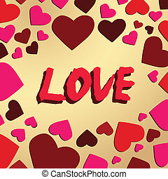 Love background - Abstract romantic love background, vector...