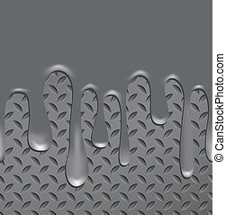 Abstract vector metal texture seamless with quicksilver...