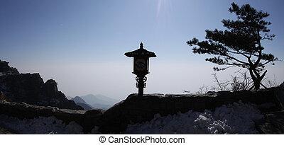 mount taishan landscape shandong china