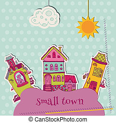 Little Town Scrap - for scrapbooking and design - in vector