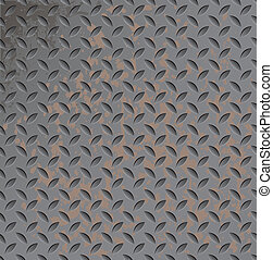 Metal rusty texture - Abstract vector metal texture seamless...