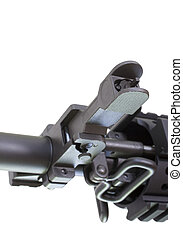 Backup sights - Front sights that fold down on a black...