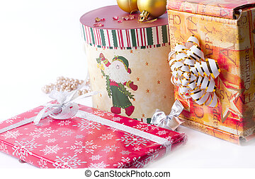 lot of Christmas presents - A lot of Christmas presents on a...