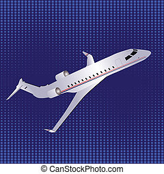 Template with airplane