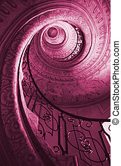 Spiral staircase - Very old spiral stairway case