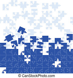 Friendship team puzzle - Business seamless gorizontal...