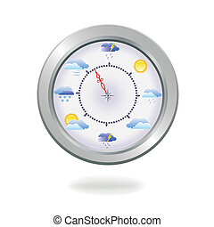 retro silver compass - Vector illustration of a retro silver...