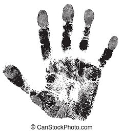 Print of hand of child, cute skin texture pattern,vector...