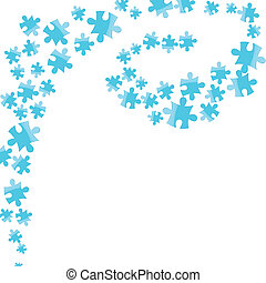 Vector jigsaw puzzle connection background Abstract vector...