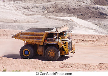 Large Mine Dump Truck - large yellow haul or dump truck...