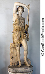 Statue of Wounded Amazon - Wounded Amazon Roman copy of...