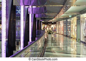 elegant, einkaufszentrum, shoppen