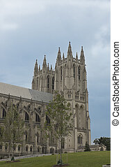 Washington National Cathedral - side view of Washington...