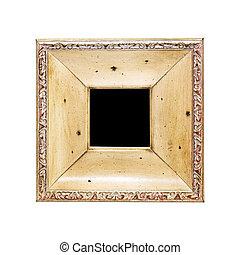 Frame square - Vintage look of engraved wooden frame...