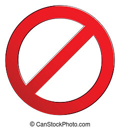 Sign forbidden circle Prohibited red symbol isolated vector...