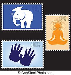 Blanks post stamps, illustration