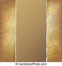 Aged menu template Vector illustration, EPS10