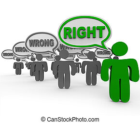 Right Vs Wrong One Person Has Correct Answer Many Incorrect...