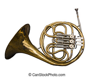 Antique Dented French Horn