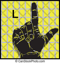 Sign Language Hand Gestures - Sketch of Sign Language Hand...