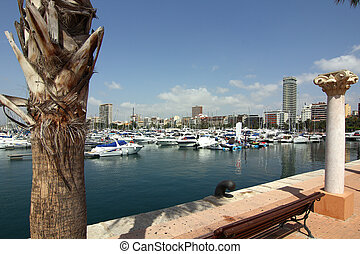 yacht marina in the city of Alicante Spain