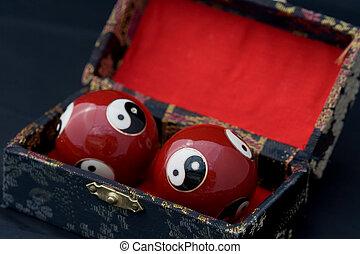 Yin and Yang Balls - Yin and Yang Baoding balls, also known...