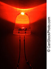 Red Light Emitting Diode - LED - Red light emitting diode...