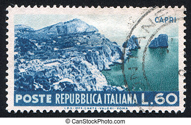 Capri - ITALY - CIRCA 1953: stamp printed by Italy , shows...