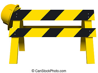 Under Construction Barrier - vector illustration of an under...