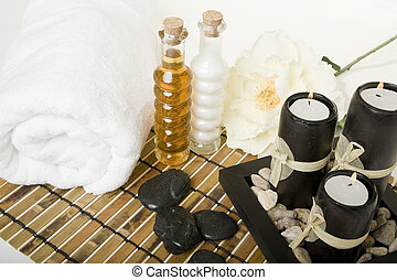 Spa Essence - Bath & spa products with massage stones, oil...