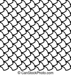 Fish scales texture. Vector art.
