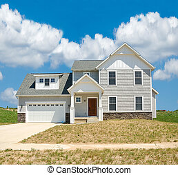 Suburban Home - A beautiful vinyl siding home in the sand...