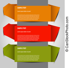 vector option templates - Design of multicolor vector option...