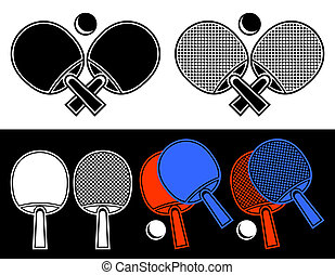 Rackets for table tennis. - The crossed rackets for table...