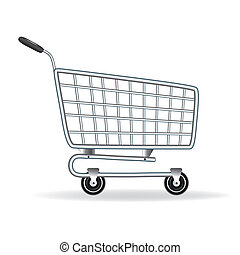 Shopping cart icon. Vector illustration. Element for design....