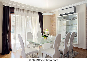 Dining room - Interior of a modern dining room.