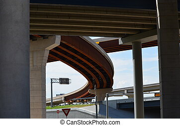 The Tollway - Street view from underneath the 121 tollway in...