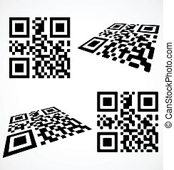 Simple qr code icon Vector illustration eps8