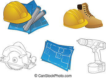 Construction Icon Collection - Various home builder graphic...