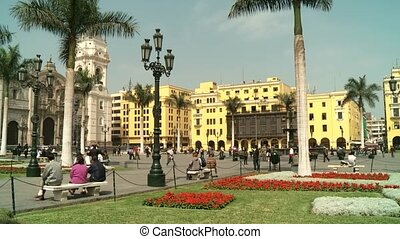 Central City, Lima, Peru - video footage of the Central City...