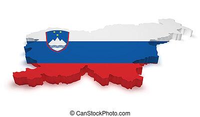 Slovenia Map Flag Shape