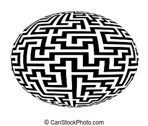 Spherical labyrinth maze - Spherical ball labyrinth maze...
