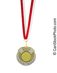 Medal isolated on the white background